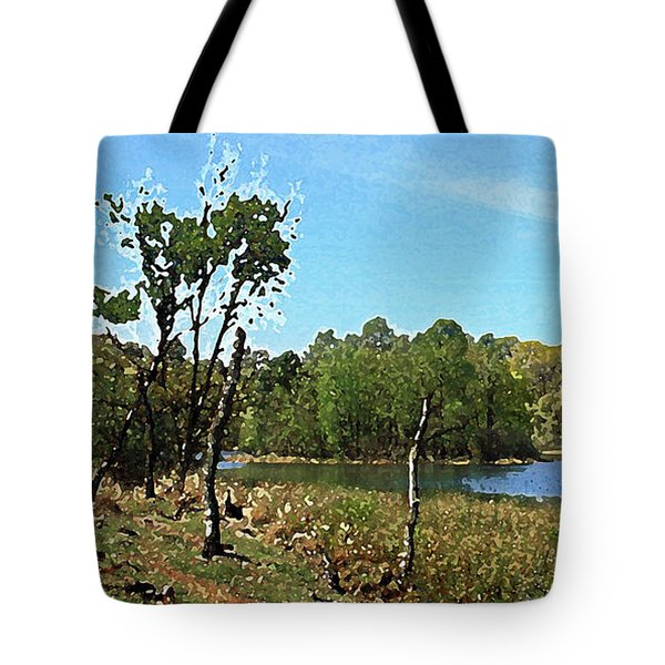 Landscape, Countryside In The Netherlands, Lakes, Meadows, Trees Tote Bag