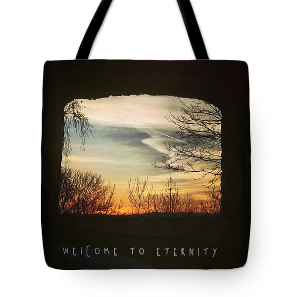 #landscape #gateway #historicalplace Tote Bag by Mandy Tabatt