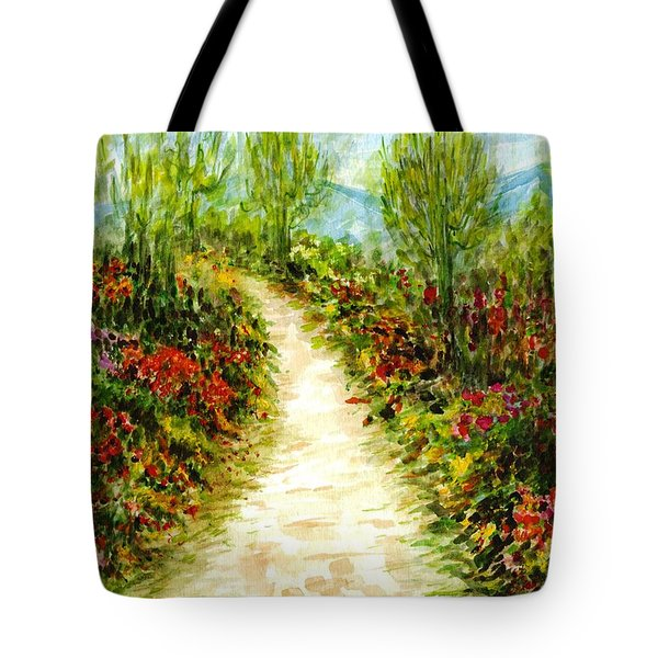 Tote Bag featuring the painting Landscape by Harsh Malik