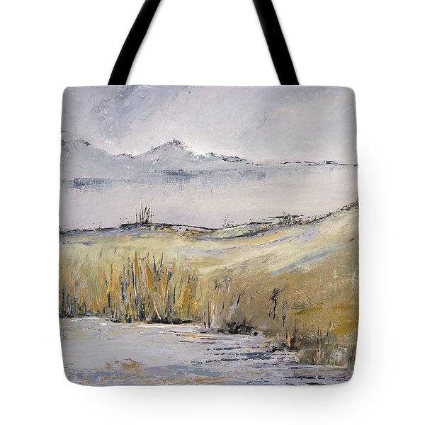 Landscape In Gray Tote Bag
