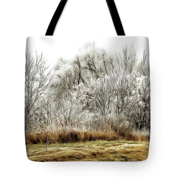 Landscape In Winter Tote Bag