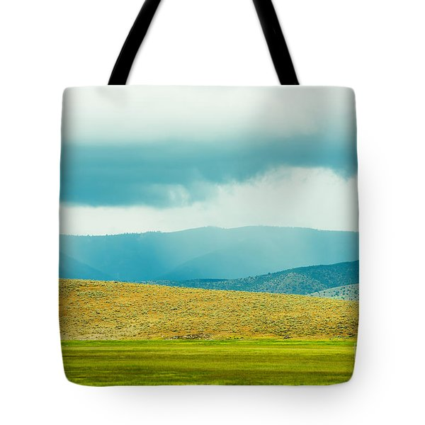 Tote Bag featuring the photograph Landscape Layers by MaryJane Armstrong