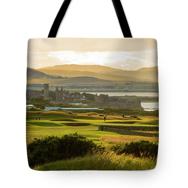 Landscape Of St Andrews Home Of Golf Tote Bag