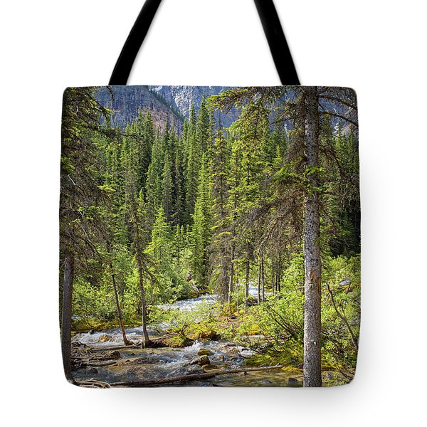 Landscape Rocky Mountains Tote Bag