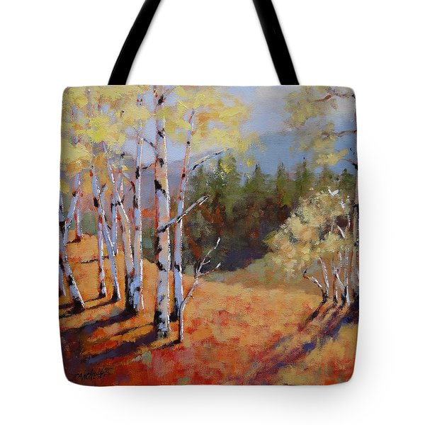 Tote Bag featuring the painting Landscape Series 1 by Laura Lee Zanghetti