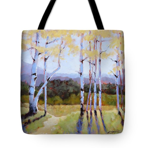 Tote Bag featuring the painting Landscape Series 2 by Laura Lee Zanghetti