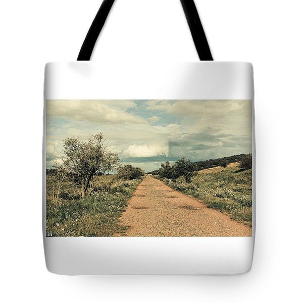 #landscape #stausee #path #road #tree Tote Bag by Mandy Tabatt