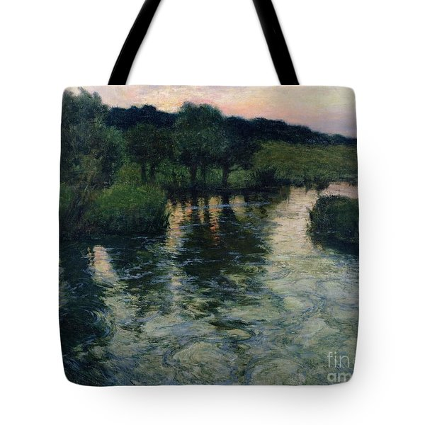 Landscape With A River Tote Bag by Fritz Thaulow