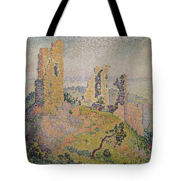 Landscape With A Ruined Castle  Tote Bag