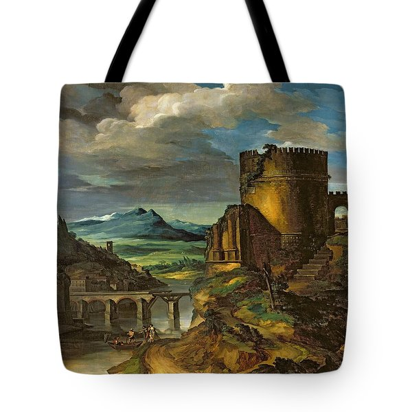 Landscape With A Tomb  Tote Bag by Theodore Gericault
