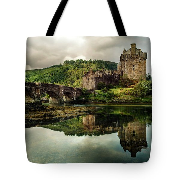 Tote Bag featuring the photograph Landscape With An Old Castle by Jaroslaw Blaminsky