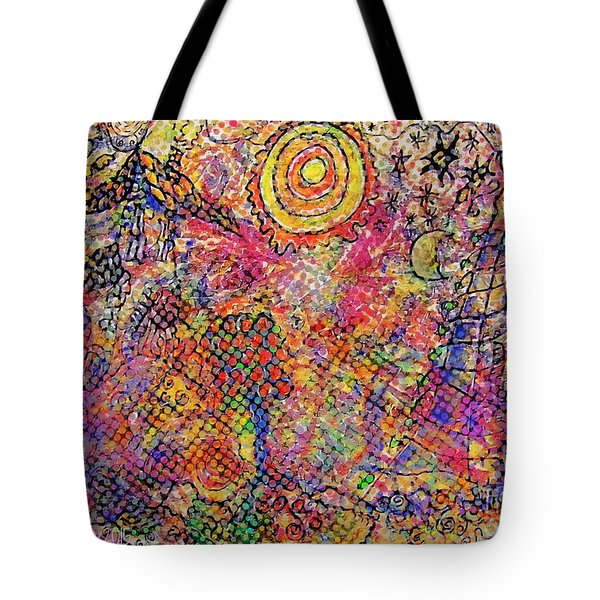 Landscape With Dots Tote Bag