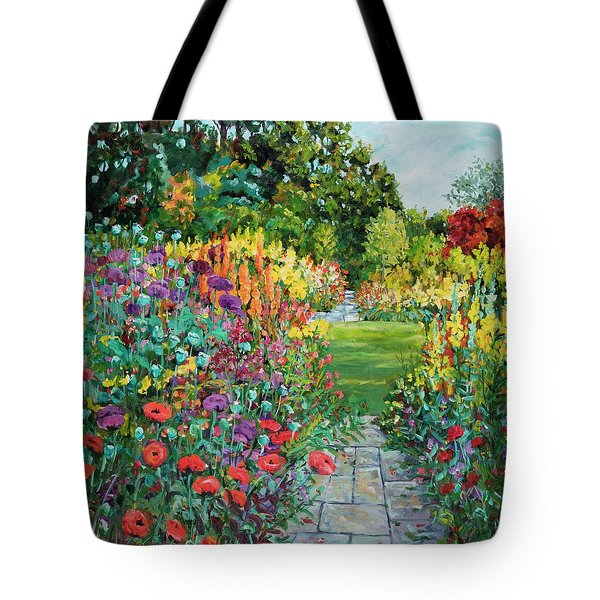 Landscape With Poppies Tote Bag