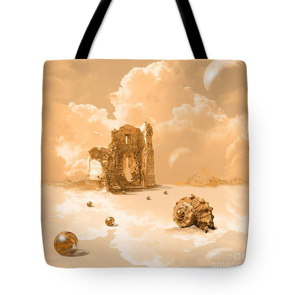 Landscape With Shell Tote Bag