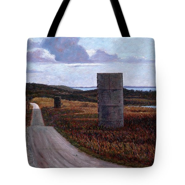 Landscape With Silos Tote Bag
