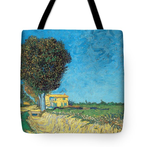 Tote Bag featuring the painting Lane Near Arles by Van Gogh