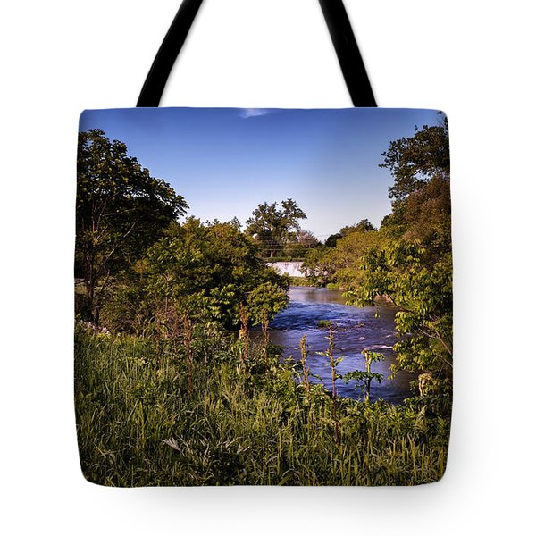 Lanesboro Dam 01 Tote Bag