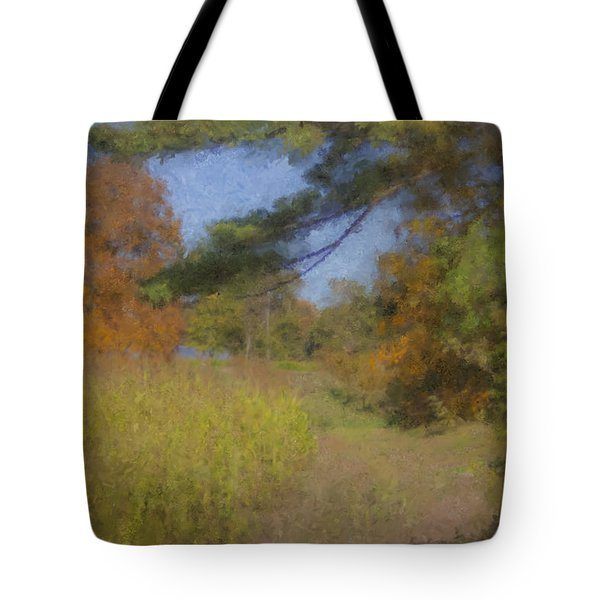 Langwater Farm Tractor Path Tote Bag