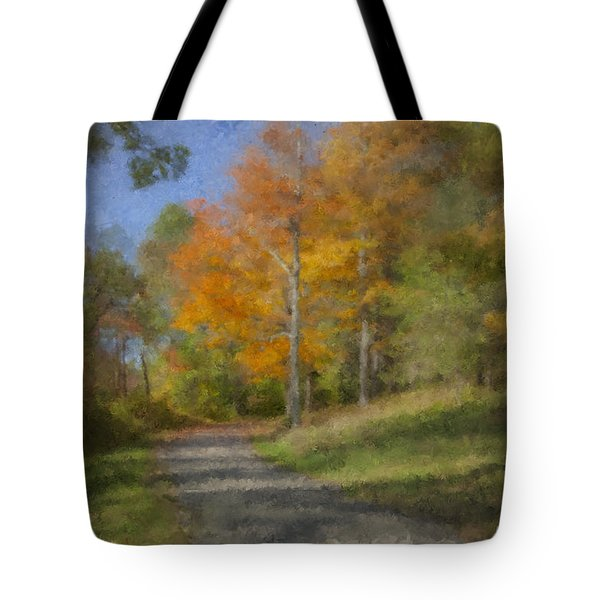 Langwater Path In October Tote Bag