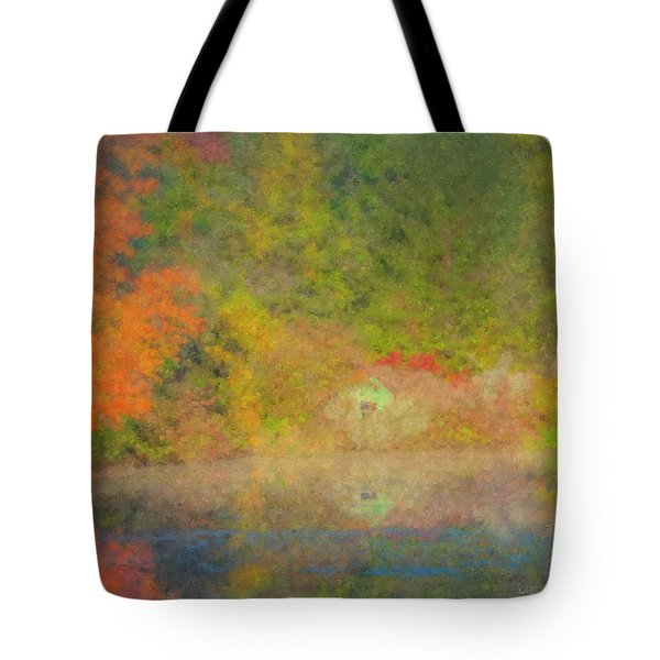 Langwater Pond Boathouse October 2015 Tote Bag