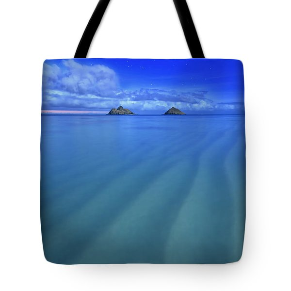 Lanikai Beach Ripples In The Sand Tote Bag by Aloha Art