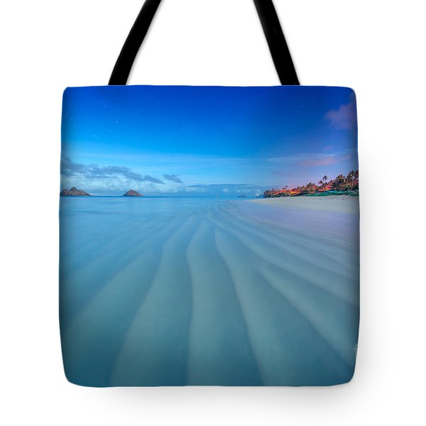 Lanikai Beach Ripples In The Sand Wide Tote Bag