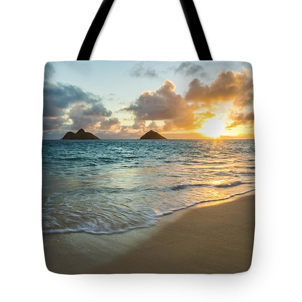 Lanikai Beach Sunrise 2 Tote Bag by Leigh Anne Meeks
