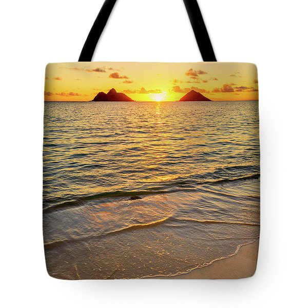 Lanikai Sunrise Between The Mokes Tote Bag