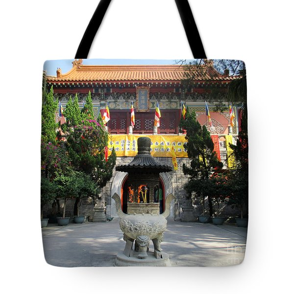 Tote Bag featuring the photograph Lantau Island 45 by Randall Weidner