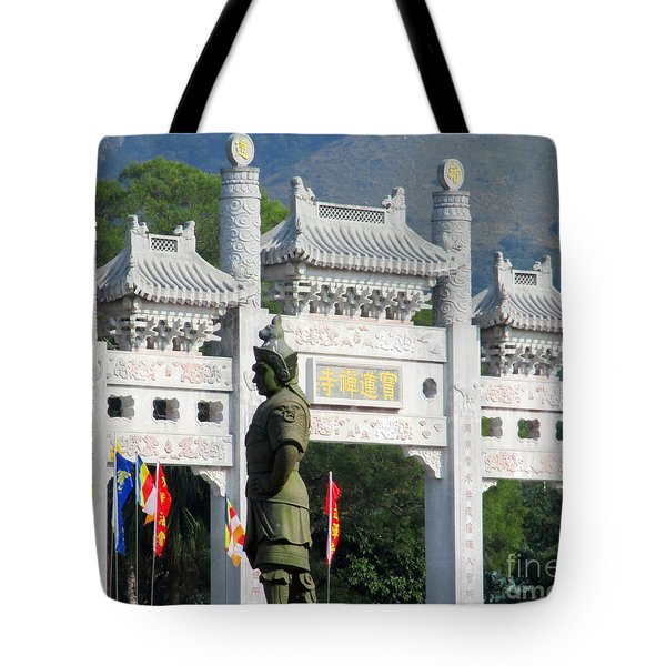 Tote Bag featuring the photograph Lantau Island 51 by Randall Weidner