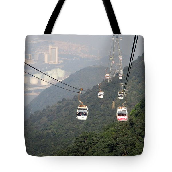 Tote Bag featuring the photograph Lantau Island 53 by Randall Weidner