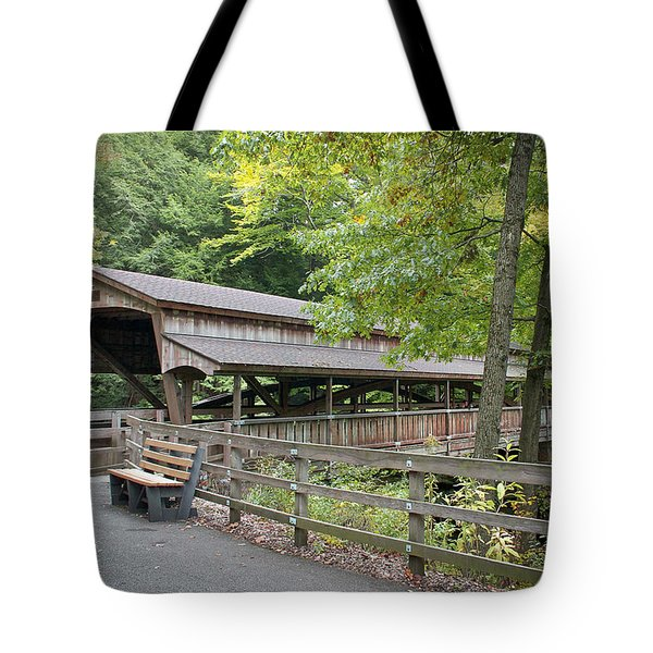 Lanterman's Mill Covered Bridge Tote Bag