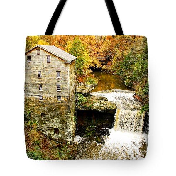 Lantermans Mill In Fall Tote Bag