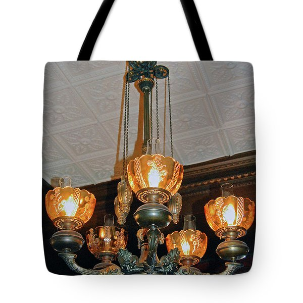Lantern Chandelier Tote Bag by DigiArt Diaries by Vicky B Fuller