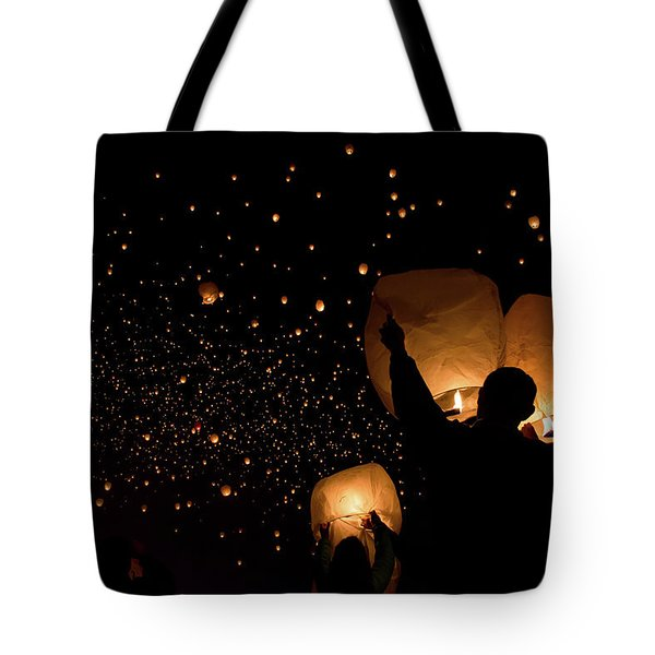 Lantern Fest Group Tote Bag