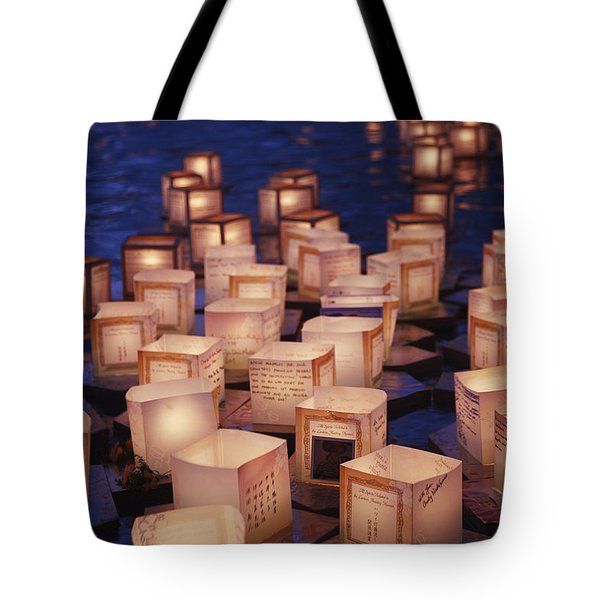 Lantern Floating Ceremony Tote Bag by Brandon Tabiolo - Printscapes