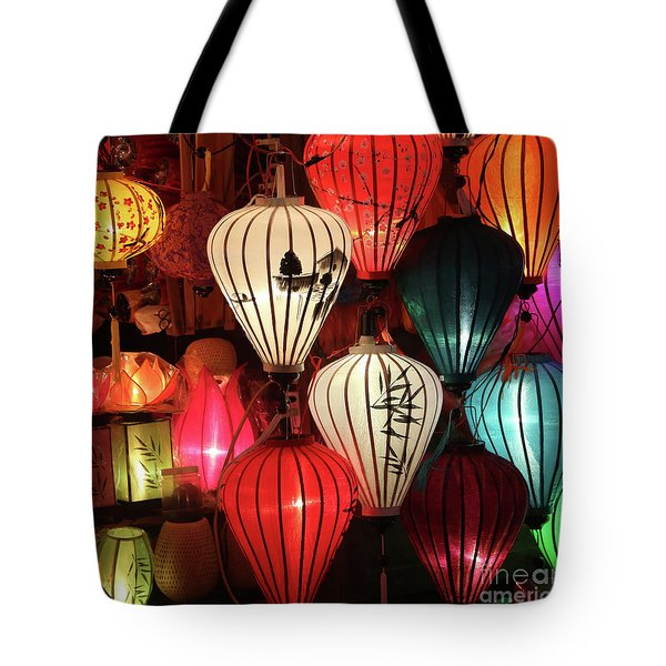 Lanterns Colors Hoi An Tote Bag