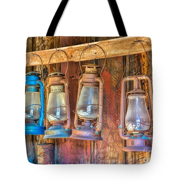 Lanterns In The Bodie Firehouse Tote Bag