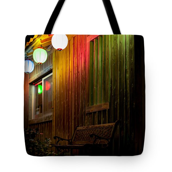 Lanterns Light The Bench Tote Bag