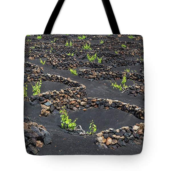 Lanzarote Vineyards Tote Bag by Delphimages Photo Creations