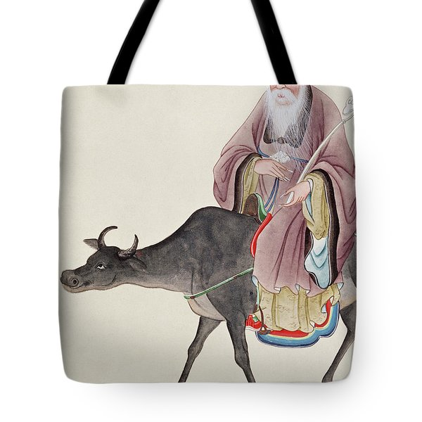 Lao Tzu On His Buffalo Tote Bag