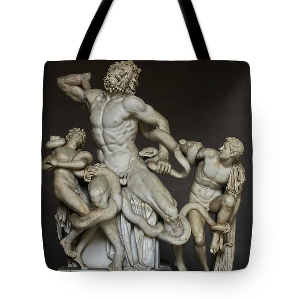Laocoon And His Sons At The Vatican Tote Bag
