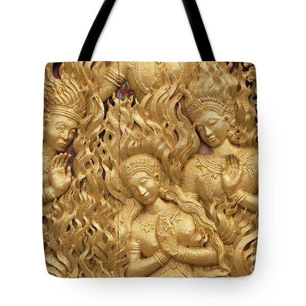Tote Bag featuring the photograph Laos_d60 by Craig Lovell