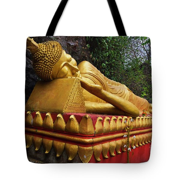Tote Bag featuring the photograph Laos_d602 by Craig Lovell