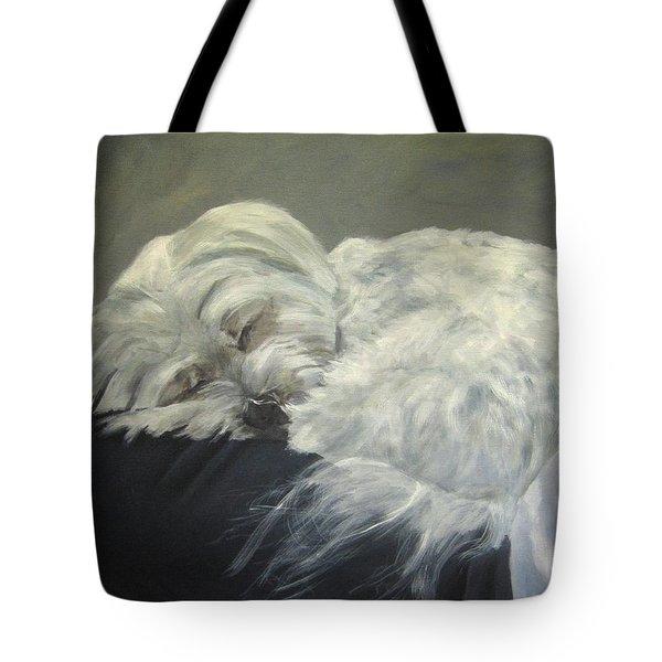 Lap Dog Tote Bag by Elizabeth Ellis