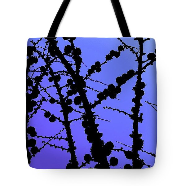 Larch Cones Against The Sky Tote Bag