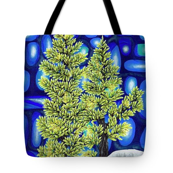 Tote Bag featuring the painting Larch Dreams 3 by Rebecca Parker