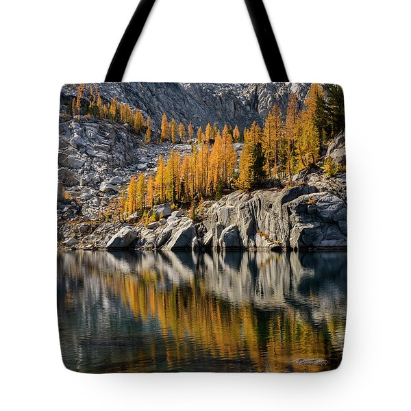 Larch Reflection In Enchantments Tote Bag