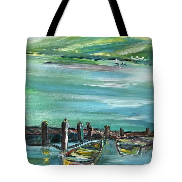 Large Acrylic Painting Tote Bag