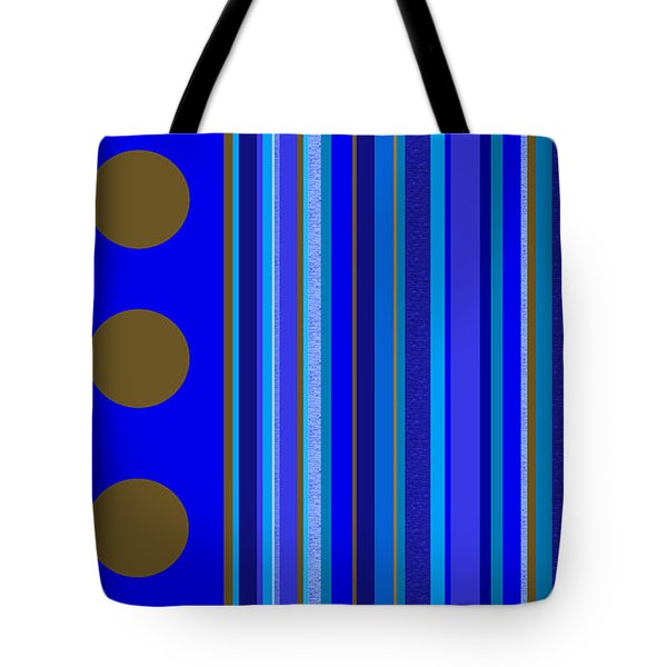 Large Blue Abstract - Panel Three Tote Bag